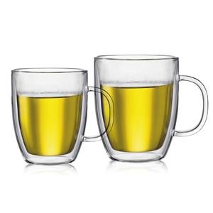 Image 3 - Large Capacity Bodum Design Swig Mug Double Wall Glass Free BPA Assam Tea Glassware Italy Espresso Thermal Insulation Coffee Cup