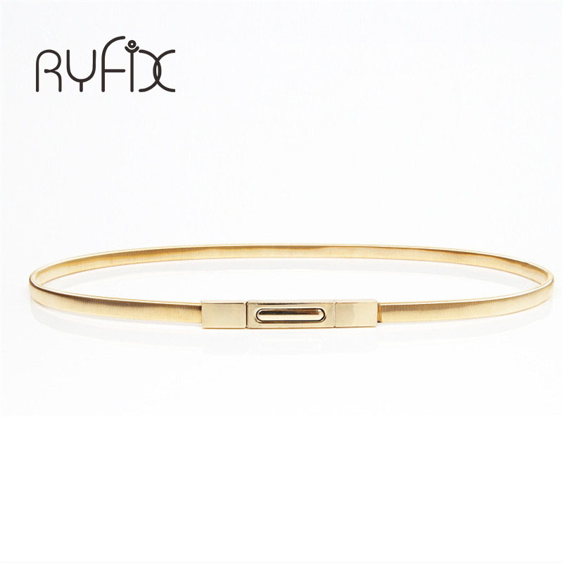 2019 Hot sales New women metal belt chain Fashion metal buckle thin elastic waist gold/sliver women skinny belt chain  BL02-1