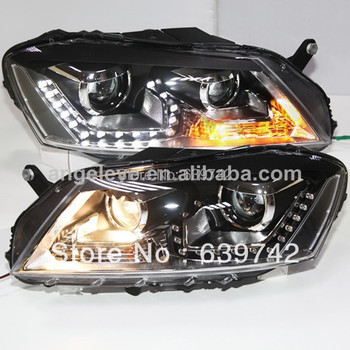 2012-2013 year  For European Passat B7 LED Headlights with Projector Lens TLZ