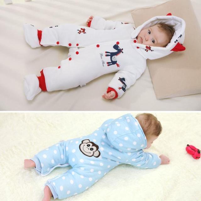 Invierno y primavera mamelucos del bebé espesar cálido algodón ropa de bebé bebé ropa bebe roupas meninos