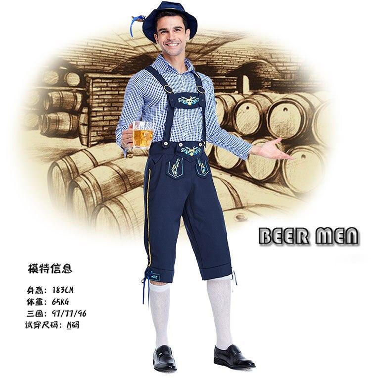 3 Pcs Hot Oktoberfest Costume Lederhosen Bavarian Octoberfest Beer Festival Cosplay Costumes Halloween For Men Beer Costumes