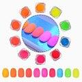 2 g/caja de Neón Polvo De Fósforo de Uñas Gradiente Polvo de Pigmento de Manicura Nail Art Decoration #36691
