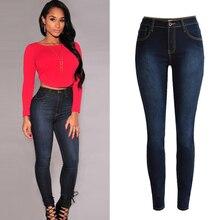 Чистый хлопок отверстие джинсы женщин плюс размер высокое качество Европейский стиль мода boyfriend все матч упругой ковбой джинсовые брюки D247