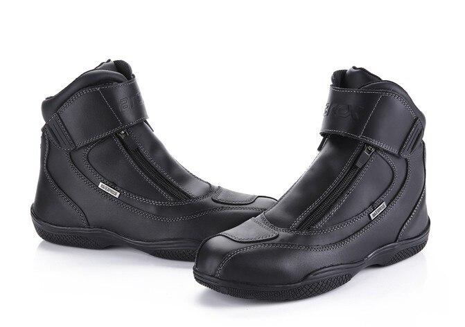 Hommes En Cuir Décontractée de Motos Imperméables Équitation Chaussures de Course Chaussures arcx Chaussures Moto Équipement De Protection Moto