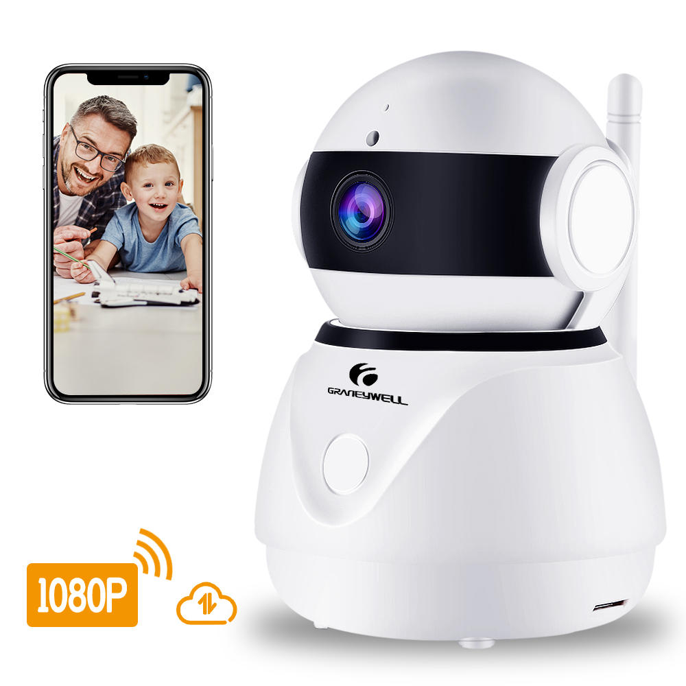 Câmera IP sem fio 1080 p HD 2MP Wifi Monitor Do Bebê Da Câmera de CCTV Lente de Segurança Inteligente de Visão Noturna de Vigilância de Vídeo Em Casa câmera