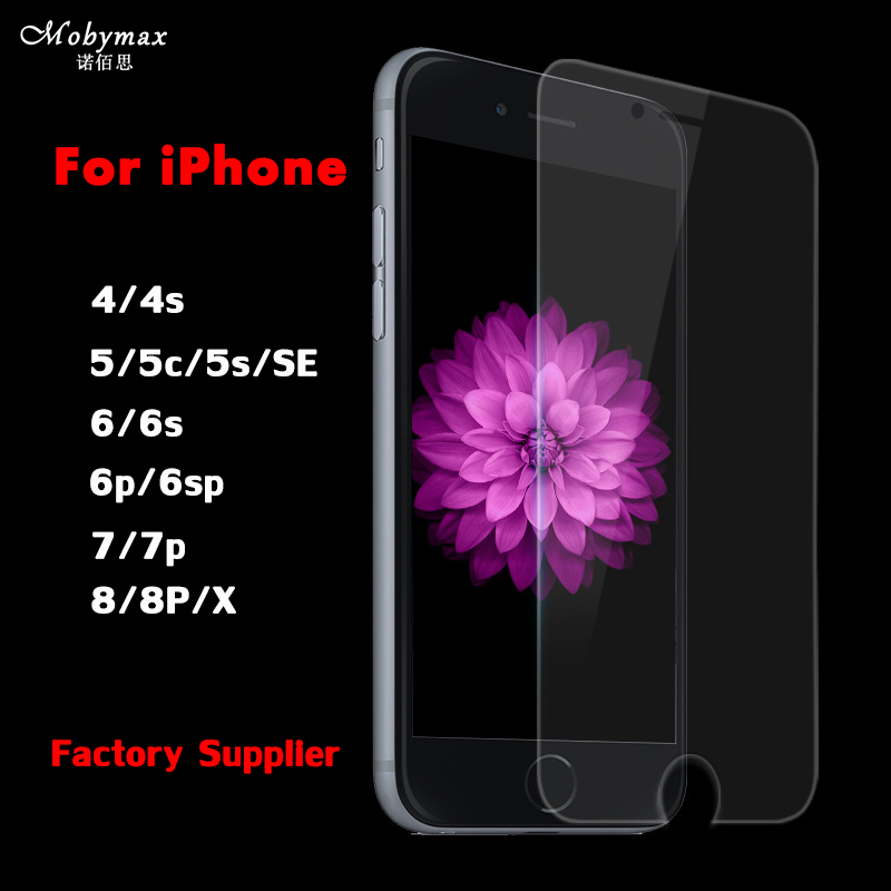 Explosion-Proof Tempered Glass For iPhone 5 5s 5c 6 6s 4s 4 Anti-Shock Screen Protector Film For iPhone 7 7 Plus 8 8plus x