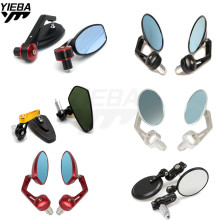Universal Motorcycle bar end mirror Rear view Side mirrors FOR DUCATI HYPERMOTARD 1100/S/EVO SP 620 MONSTER MTS 916/916SPS