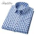 DAVYDAISY 2019 nouveauté marque Plaid chemise hommes été robe cintrée décontracté à manches courtes chemise homme Camisas 10 couleurs DS 174|camisa brand|plaid shirt men|short sleeve shirt -