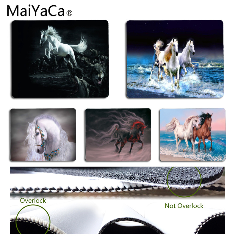 MaiYaCa High Quality Horses DIY Design Pattern Game mousepad Size for 180*220*2mm and 250*290*2mm Mousepad