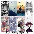 Cute Animal Tiger Totem Painting Soft TPU Cover Phone Case for Sony Xperia M4 Aqua M5 Z Z2 Z4 Z5 Z1 Z3 Mini Compact  X XA XP XZ