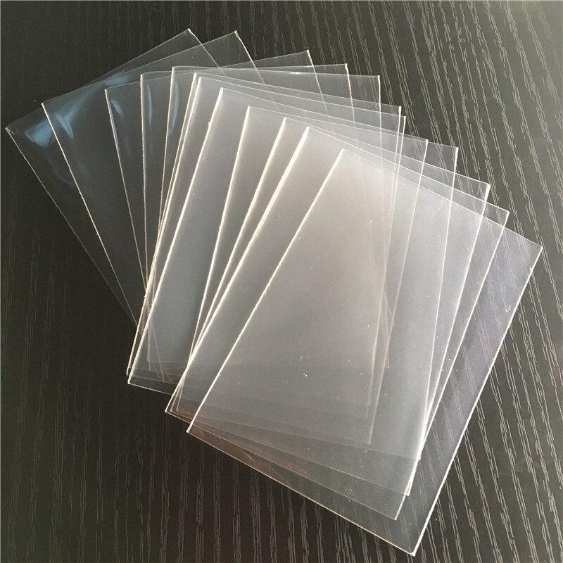 300 sztuk/partia 7 rozmiarów przezroczyste karty Protector dla kart gier planszowych zbieranie rękawy kart