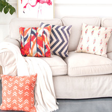 Home decoration pillowcase Nordic style geometric color bedroom sofa hotel cafe