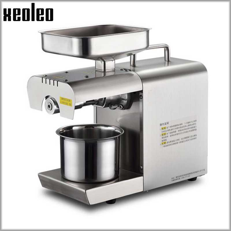 Xeoleo Olive Oil press machine Stainless steel Peanut Oil presser Cold&Hot Oil machine /Sesame/Melon seeds/Rapeseed/Flax/Walnut free shipping home use cold olive oil press machine nuts seeds oil presser pressing machine all stainless steel peanuts oil