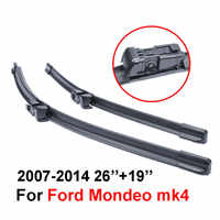 """26""""+19"""" 2pcs/pair Frameless car wiper blades for Ford Mondeo high quality Soft Rubber WindShield windscreen deflector window"""