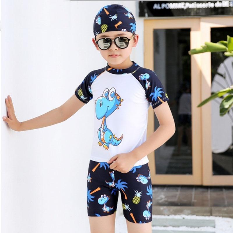 US Baby Kids Girl Summer Beach Swimwear Swimsuit Swimming Costume Trunks+Hat Set