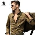 Camisa Ocasional dos homens Marca de alta Qualidade 100% Algodão de Manga Longa Plus Size solto Topo Camisa Vôo Militar Para Homens S ~ XXL CA5C261