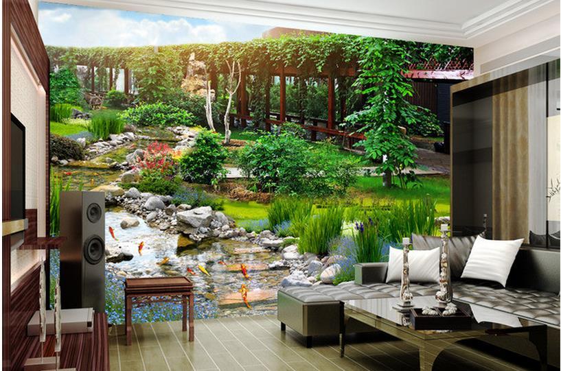 3d Customized Wallpaper Home Decoration Landscape Park 3D Backdrop Photo Wall Murals WallpaperChina
