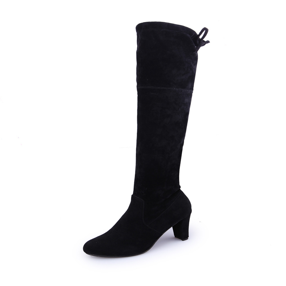 Sexy Fashion Women Stretch Faux Suede Slim Thigh High Boots Over the Knee Boots New High Heels Woman Shoes High Quality mudibear women fux suede thigh high boots fashion over the knee boot stretch flock sexy overknee high heels woman shoes red