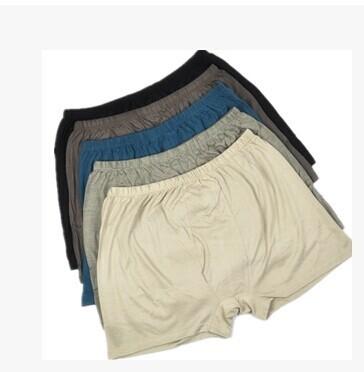 El nuevo 100% de los hombres de seda ropa interior de punto Tipo yardas mástil placas con la gente gorda desgaste