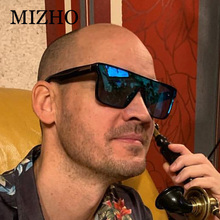MIZHO Red Square Sunglasses Men Brand Designer Retro Gradient Whole Len Sun glas