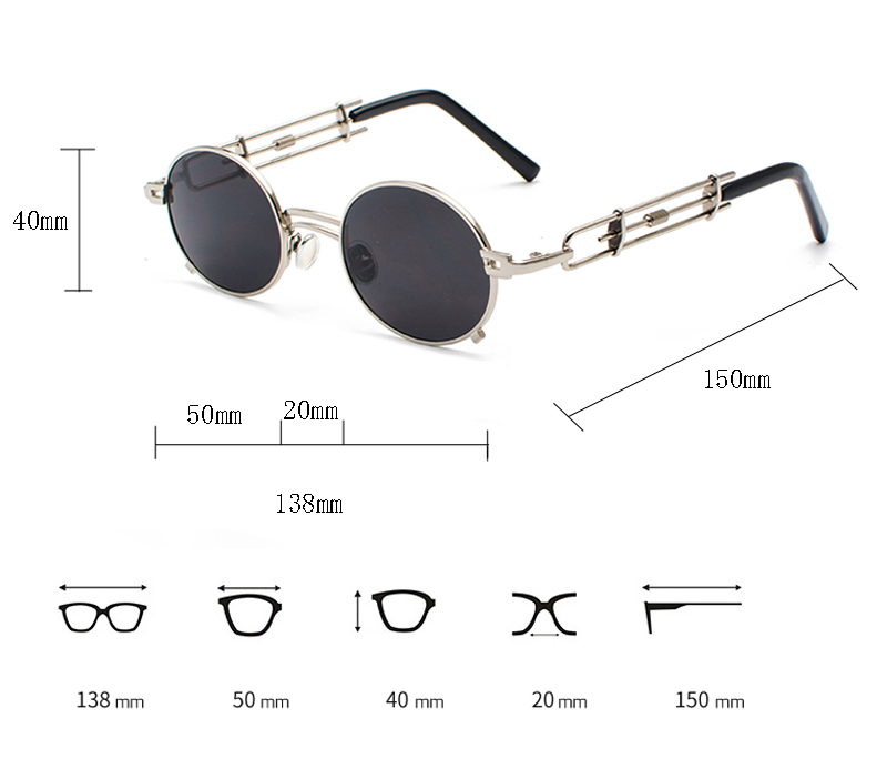 steampunk sunglasses 6018 details (1)