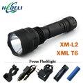 Мощный led фонарик Факел аккумуляторная водонепроницаемый тактический охота свет cree xml xm-l2 t6 q5 перезаряжаемые батареи 18650