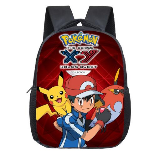 83221f813ad6 Anime Pokemon Backpack Pocket Monster School Bag Ash Ketchum Pikachu ...