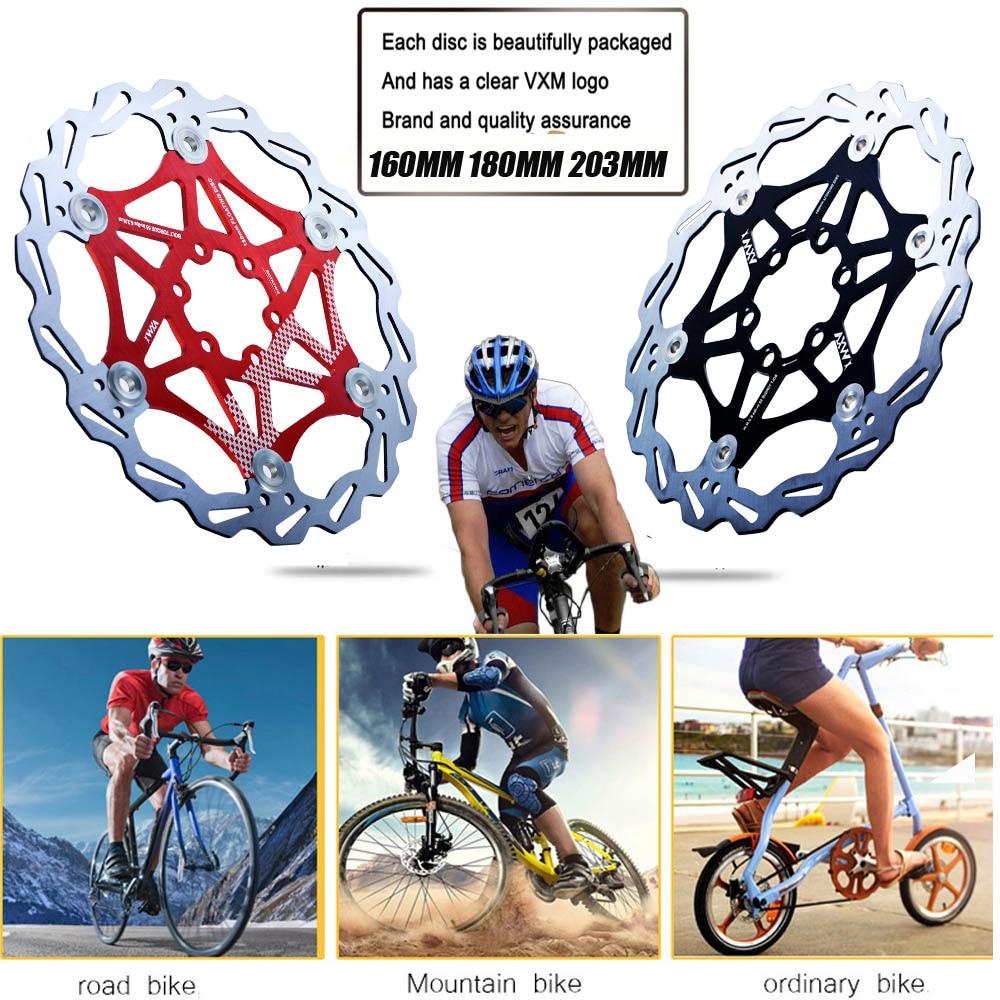 VXM Bicycle MTB DH Floating Disc Rotors Brake Kit 4