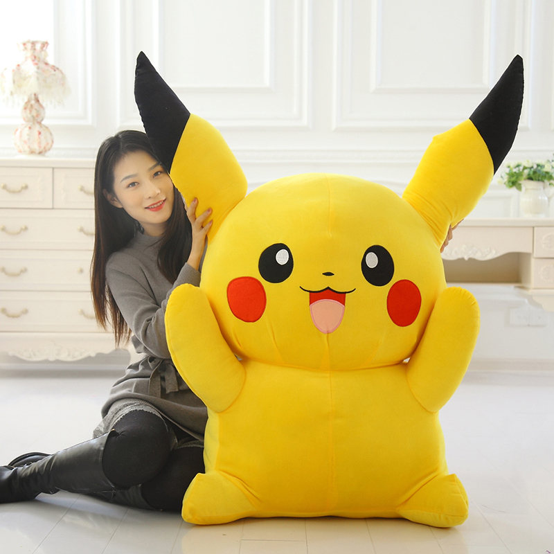 huge plush Pikachu toy new big stuffed pikachu doll gift about 120cm the huge lovely hippo toy plush doll cartoon hippo doll gift toy about 160cm pink