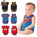 Baby Boy Bodysuit Newborn Baby Boy Clothes Sleeveless Star Print Spiderman Batman Jumpsuit For Christmas Halloween Costume