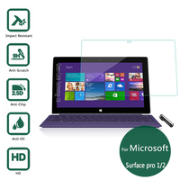 2 5D Edge 9H For Microsoft Surface Pro 1 2 RT PRO Tablet Explosion Proof Tempered