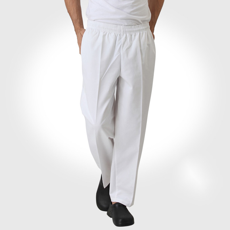 Best Selling Chef Pants Kitchen Trouser Chef Uniform Elastic Waist Restaurant Pants Chef Clothes Work Wear