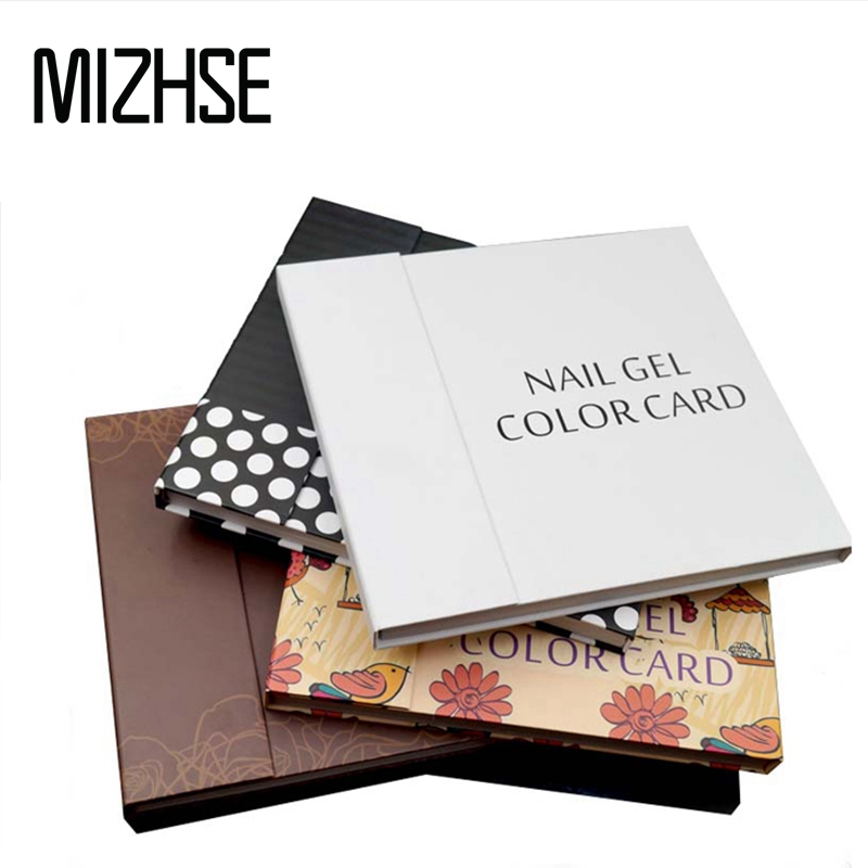 MIZHSE UV Nail Gel Polish 120 Colors Nail Art Display Color Book Chart Salon Acrylic Gel Tips Display Color Card Chart Painting 126 colors double open mosaic nails gel polish display card book chart 3 colors nail art book nail tools with full manicure tips