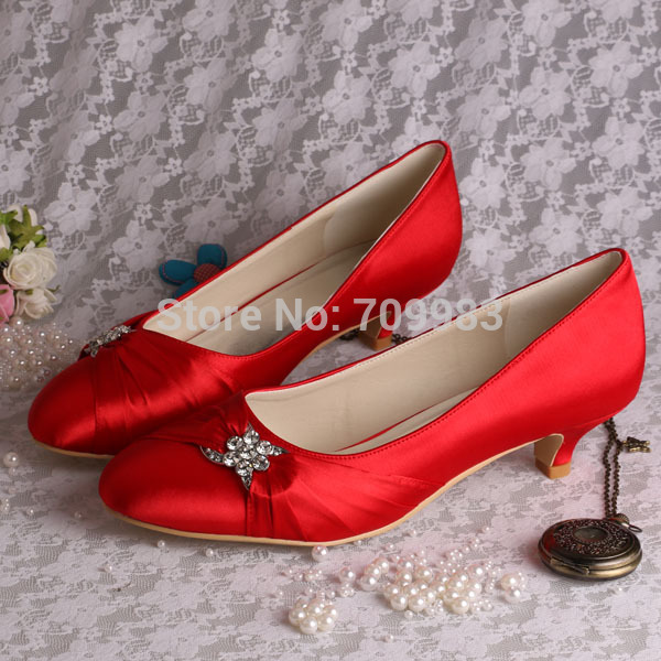 20 Colors)Stylish Ladies Fancy Bridal Low Heel Wedding Shoes Dark ...