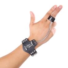 Death Note Logo Black Leather Bracelets Punk