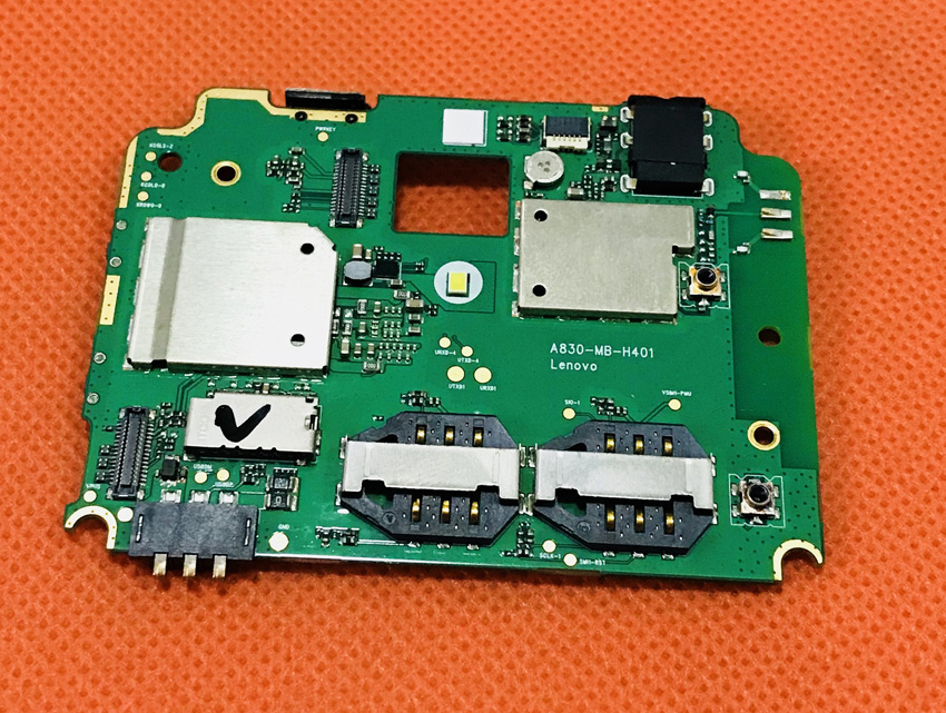 Utilisé carte mère D'origine 1G RAM + 4G ROM Carte Mère pour Lenovo A830 MT6589 Quad Core 5.0 QHD livraison gratuite