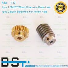 Transmission-Parts Worm-Gear Copper Reduction Metal Hole:10mm-Rod-Hole:10mm Ratio:1:20