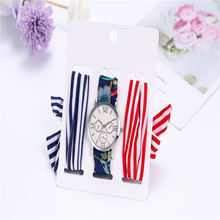 3pcs/set Casual Dresses Ladies Holiday Cotton Watch Watches Women Fashion 2019 Wrist for