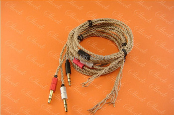 Silver-plated copper single crystal headphone wire High quality repair line upgrade fever Heart of Ocean wire