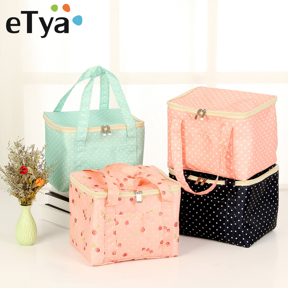 eTya New Lunch Bags for Women Kids Insulated Box Tote Bag Thermal Cooler Food Fresh Keep Lunch Bags Picnic Storage Food Bag