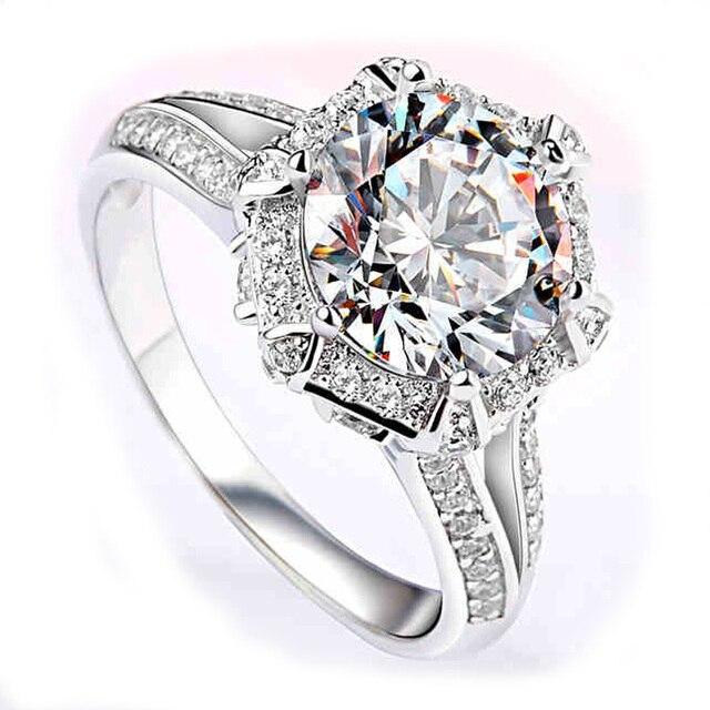 Навсегда Классический Moissanites EDI 1 Карат Кольцо Для Женщин Твист Группа лаборатория Grown Алмаз 9 К Белое Золото Обручальное Кольцо Fine Jewelry Подарок