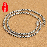 925 Sterling Silver Rope jadoku retro necklace silver jewelry fashion folk style goods wholesale on behalf of