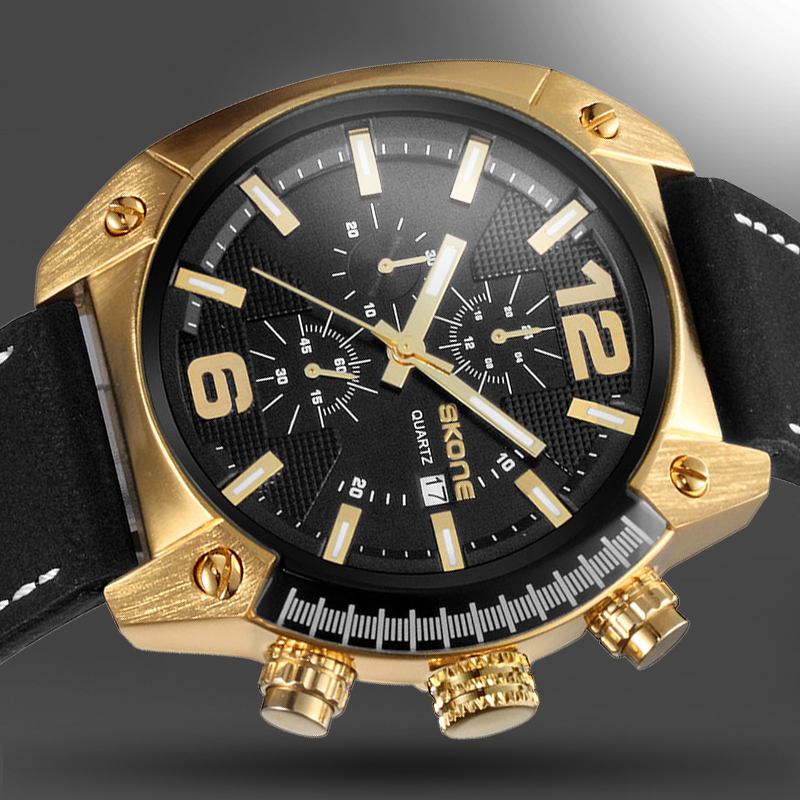 2018 Men Sport Watch Chronograph Leather Strap Quartz Army Military Watches Clock Men Top Brand Luxury Male Relogio Masculino jedir brand luxury watch men army military leather watches male sport waterproof watches business chronograph quartz wristwatch