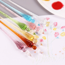 1 PC New Creative Crystal Glass Dip Pen Signature Business School Office Stationery Banquet Supplies and Gifts