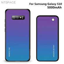Backup Battery Charging Cover For Samsung Galaxy S10 Wireless Magnetic Battery Case 5000mAh Extended Phone Battery Power Case