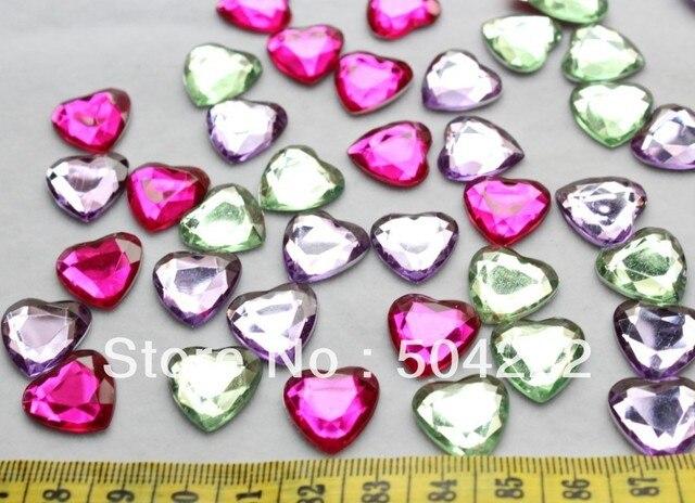 Set of 500pcs lovely 16mm heart gem rhinestone cabochon acrylic set of 500pcs lovely 16mm heart gem rhinestone cabochon acrylic pendants beads charms kawaii yz0046 mozeypictures Choice Image
