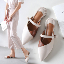 где купить 2019 New Fashion Women Sandals Low Heels Sandals Beige/Black Spring/Summer Female Shoes Casual Lady Shoes Woman Footwear дешево