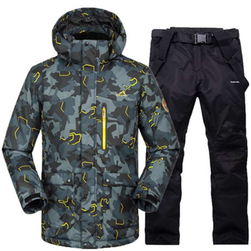 Men Ski Jacket+Pant Windproof Waterproof Outdoor Sport Wear Super Warm Snowboard Skiing Suit Thicken Outdoor Sport Wear Suit Set