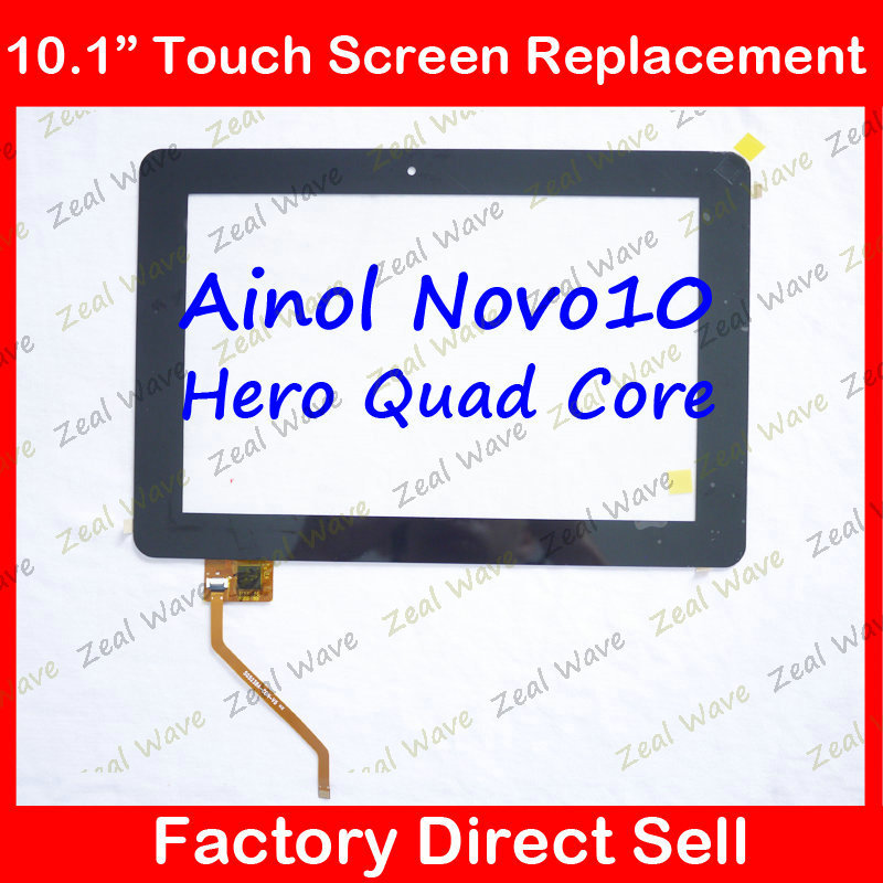 100% Original new Touch Screen/Panel Glass Screen Replacement Parts for 10.1 inch Ainol Novo10 Hero Quad  Core  Tablet PC свитер для собак dezzie 561500 цвет черный