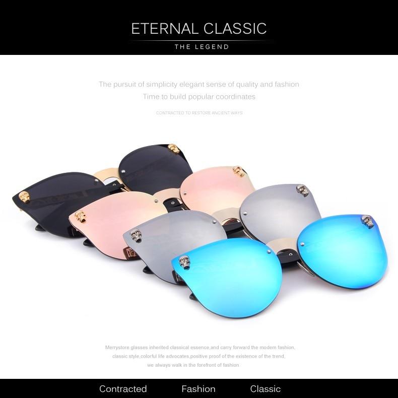 88d3cc67a MERRY'S Fashion Women Gothic Eyewear Skull Frame Metal Temple Oculos ...